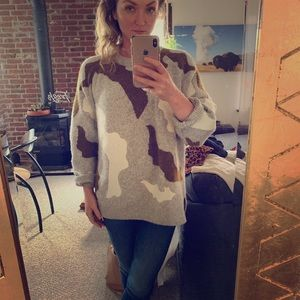 H@M Couture Camo Oversized Sweater